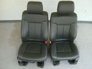 12 Ford F 150 black leather front heated/cooled seats