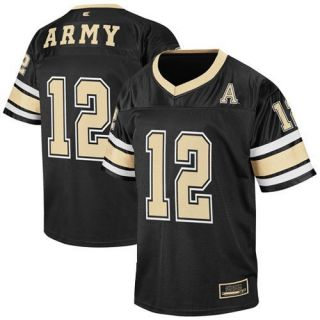 Army Black Knights #12 Youth Stadium Replica Football Jersey   Black
