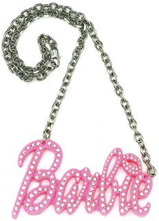 Pink Plastic Pendant Nicki Minaj Barbie Style 19 Necklace Chain New