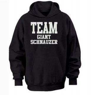 TEAM GIANT SCHNAUZER HOODIE warm cozy top   dog and puppy pet owners
