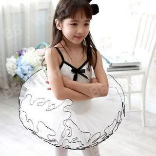 Girls Party Dance Ballet Tutu Dress Costume 4 5 Y White Color