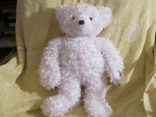 16 Cepia Gloe e Color Change White Teddy Bear RETIRED Plush Kinetic