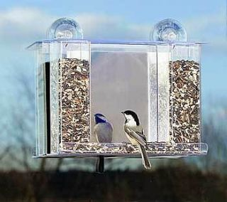 Duncraft Super Songbird Mirror Window Bird Feeder