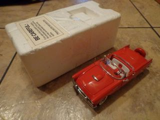 THE DANBURY MINT  RED 1956 FORD THUNDERBIRD CONVERTIBLE CAR (LOOK