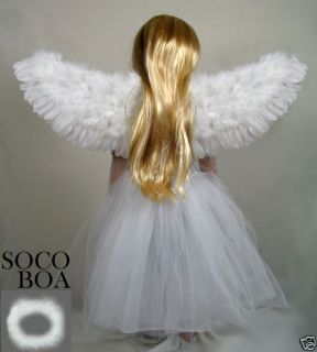Angel Costume Wings Halo Small Child Toddler Kids Fairy Halloween