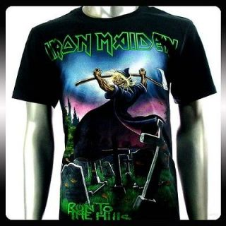 Iron Maiden Heavy Metal Rock Punk T shirt Sz L Biker Vtg Men