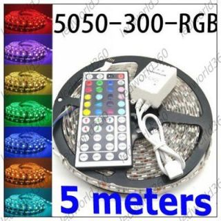 5050 RGB 300 LED Light Waterproof Flexible Strip +44 key IR controller
