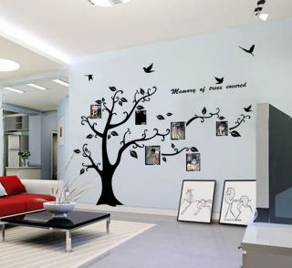 Frame Large removable Tree Kids Room Art Mural Wall Sticker Decal 125