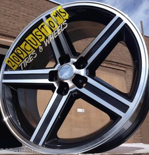 24 INCH BLACK IROC WHEELS RIMS TIRES 5X120.65 NOVA MALIBU DELTA 88