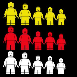 minifig minifigures decal stick family figures van car graphic sticker