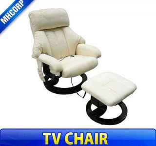 Ultra Suede TV Office Home Luxury Massage Chair Soft w/ Ottoman Seat
