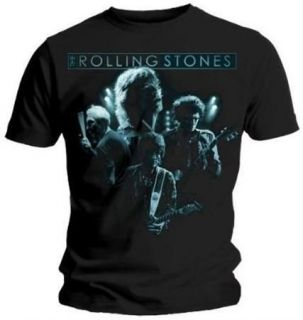 Rolling Stones Band Glow Logo Mens T Shirt   New & Official In Bag