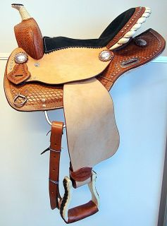Barrel Racer Show Western trail Saddle Black Clear Bling Headstall BP