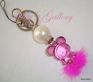 Hello Kitty Cell Phone Charm & Key chain Holder NIB