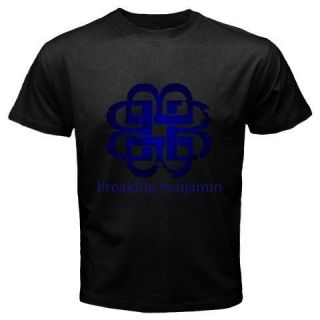New Breaking Benjamin Logo Tattoo Alternative Rock Band Black T Shirt