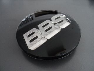 BBS BLACK WHEEL CENTER CAP 3D WITH SILVER LOGO 0923221