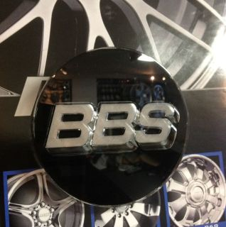 Bbs Black Wheel Center Cap 3D With Silver Letters 0923221