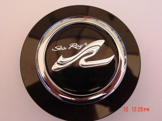 SEA RAY boat STEERING WHEEL CAP EMBLEM CHROME 2 3/16 id. NEW