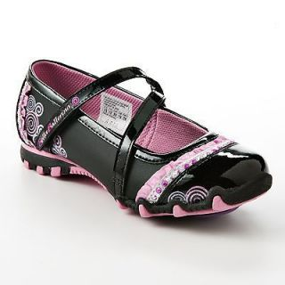Skechers Bella Ballerina Size 4 Princess Mary Janes Girls Shoes Spin