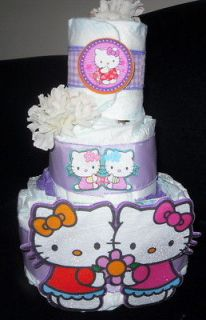 Hello kitty diaper cake