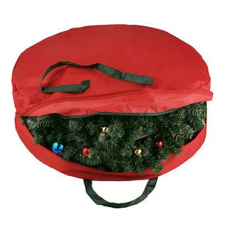 Supreme Canvas Holiday Christmas Wreath Storage Bag For 30 Wreaths