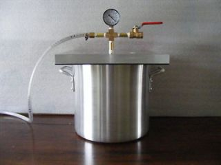 Gallon Vacuum Chamber With 3 CFM Vacuum Pump (New)
