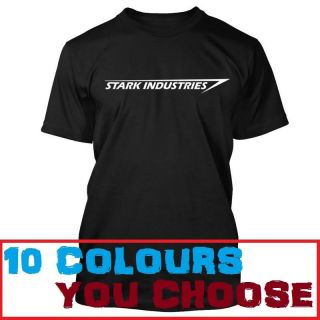 IRON MAN 1 2 3 STARK INDUSTRIES LOGO Mens T Shirt **All Sizes S   XXL