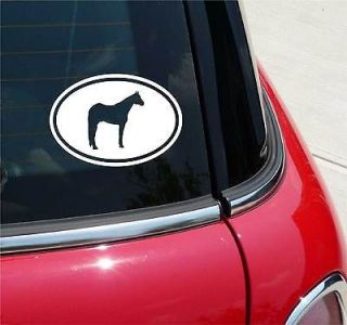 EURO OVAL QUARTER HORSE RACE GRAPHIC DECAL STICKER VINYL CAR WALL
