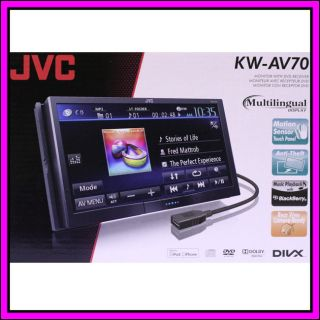 JVC KW AV70 Touch Screen LCD DVD  iPhone iPod Car Player Receiver