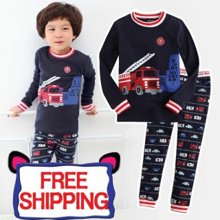 NWT Baby & Toddler Kids Boy Sleepwear Pajama Set  Fire Truck