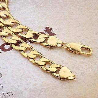 COOL Boutique Yellow gold filled Mens necklace 23.6 inch chain #