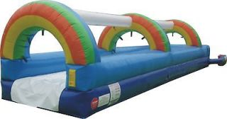 Water Slide Commercial Inflatable Bounce House Moonwalk Pool Slides