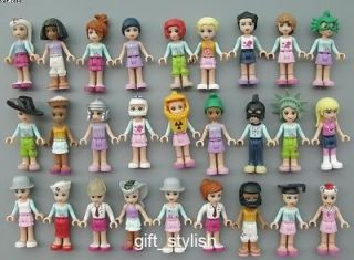 LOT Of 8 LEGO Friends Mia Emma ACTION FIGURE 2 LOOSE Style by random