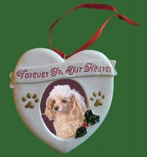 FOREVER IN OUR HEARTS PET MEMORIAL PICTURE FRAME CHRISTMAS ORNAMENT