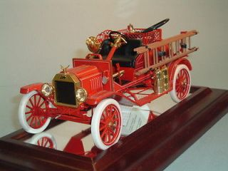 FIRE TRUCK 1916 FORD MODEL T FIRE ENGINE FRANKLIN MINT 116 DIECAST
