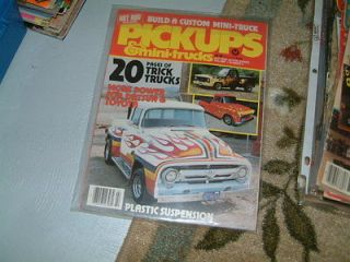 HOT ROD PICKUP MINI TRUCK MAGAZINE 1983 HOT ROD TRUCK VINTAGE 4X4