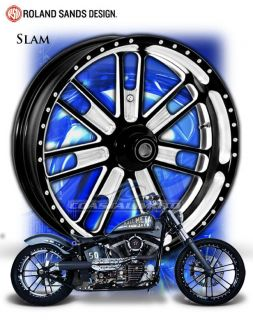 Performance Machine Slam Motorcycle Wheels for Harley Rocker SALE