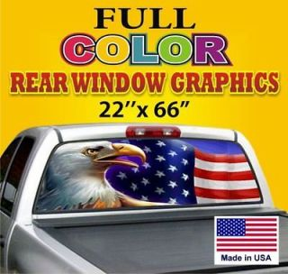 /EAGLE Truck/Car Rear 1 Window Graphics Tint Decals Dodge Ford Chevy