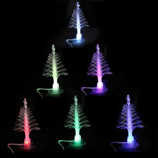 Desktop Flashlight Fiber Optic Christmas XMAS Tree Lamps Night Lights