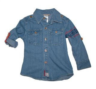 NWT Guess Jeans Baby Boys Girls Denim Western Shirt