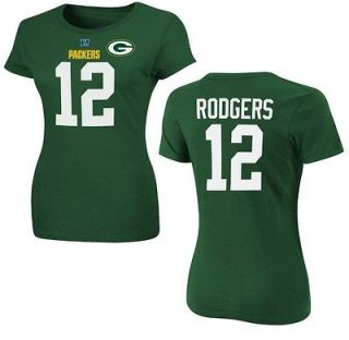 Green Bay Packers Aaron Rodgers Womens Green Fair Catch IV Jersey T