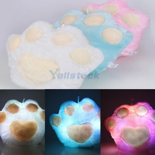 New 1 Pcs Fashion Popular Bears Paw Shape LED Light Up Colorful