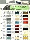 CHRYSLER/PLYMOUTH/DODGE Color Chip Paint Sample Brochure/Chart DuPont