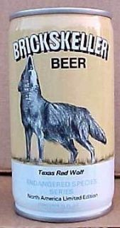 BRICKSKELLER BEER can TEXAS RED WOLF Pittsburgh, PENNSYLVANIA 1/1+