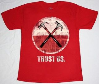 TRUST US   TOUR 2012 PINK FLOYD PROGRESSIVE ROCK NEW RED T SHIRT
