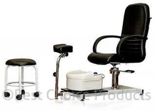 Pedicure Station Chair Foot Spa Unit With Stool Beauty Salon Equipment