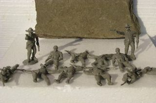 CAVALRY SOLDIERS W/CASUALTIES CIVIL WAR TOY CONFEDERATE PLAYSET