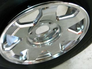 Escalade Chrome Factory Wheels Truck, SUV Alloy Rims W/ Caps RIMS ONLY