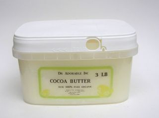 RAW 100% PURE FRESH ORGANIC COCOA BUTTER from 2 oz  10 LB UNREFINED