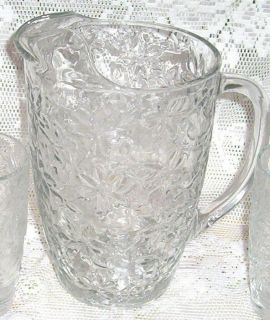 PRINCESS HOUSE FANTASIA WATER PITCHER POINSETTIA CRYSTAL 56 ounces